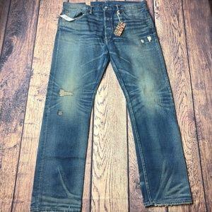 Double Ralph Lauren RRL Slim Fit Selvedge Jeans
